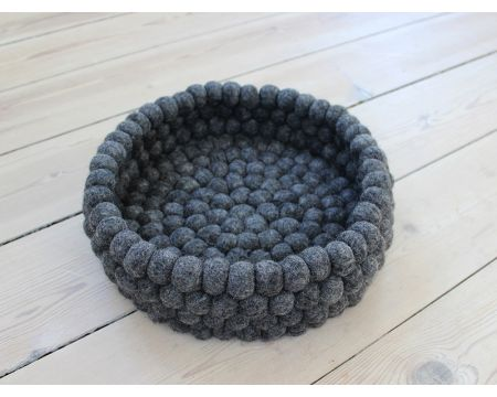 Charcoal Grey Felt Basket