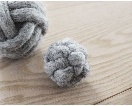 Knotted Cat Ball Steel Grey