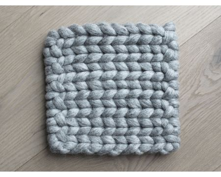 Braided Coaster - Steel Grey